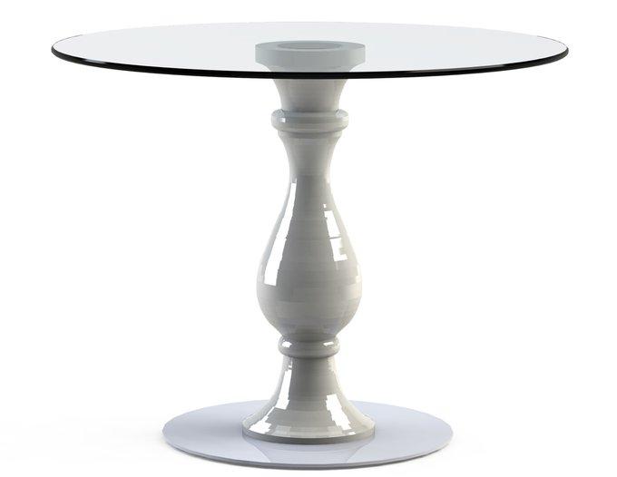 """столик обеденный """"ADVENTUS White"""" со столешницей из закаленного стекла"""