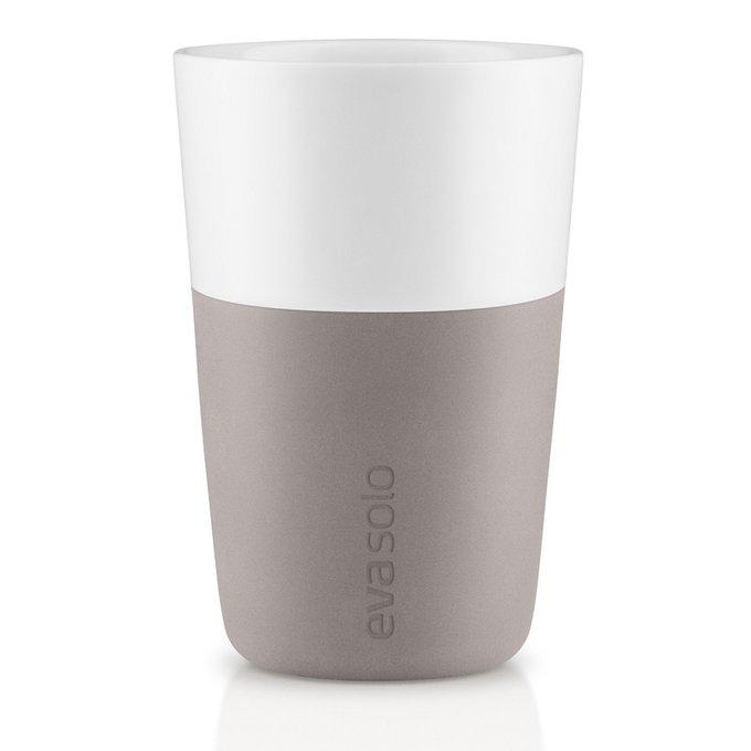 Набор из двух чашек для латте пурпурно-серого цвета
