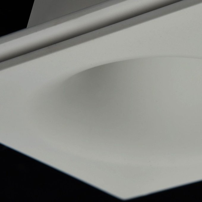 Встраиваемый светильник Gyps Modern из белого гипса