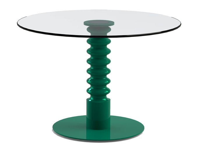 """Обеденный стол """"PILMER Green"""" со столешницей из закаленного стекла"""