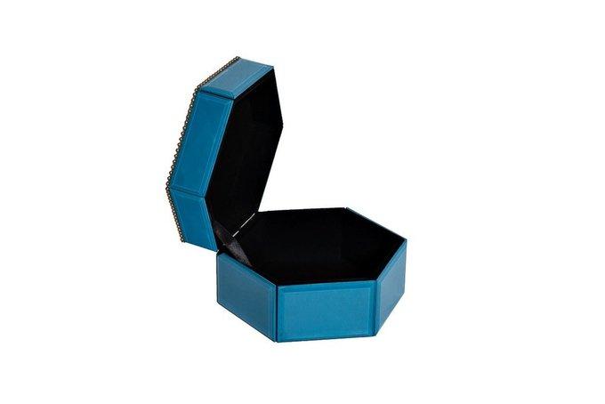 Шкатулка синего цвета