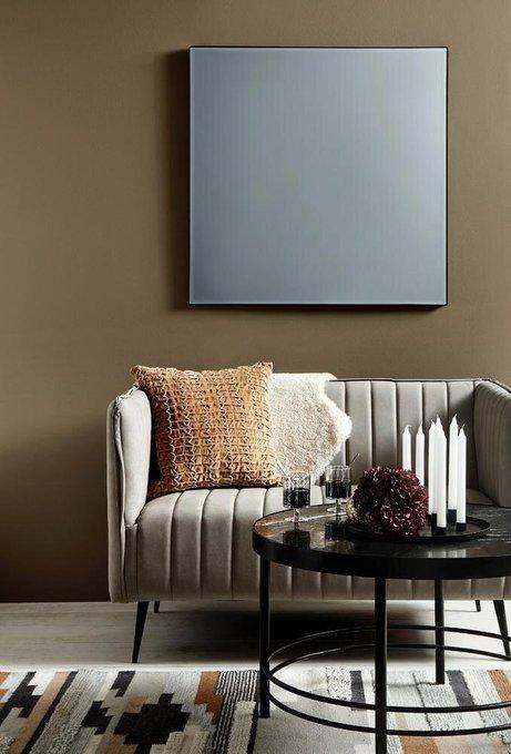 Диван Fakia с замшевым покрытием светло-серого цвета