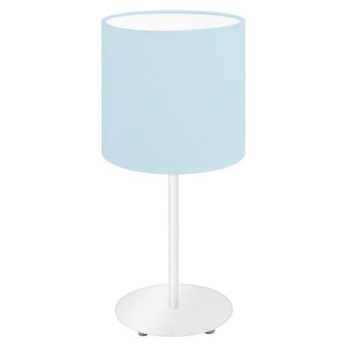 Настольная лампа Pasteri-P с голубым абажуром