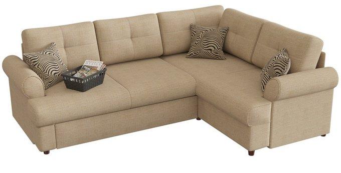 Угловой диван-кровать Мирта Милфорд бежевого цвета