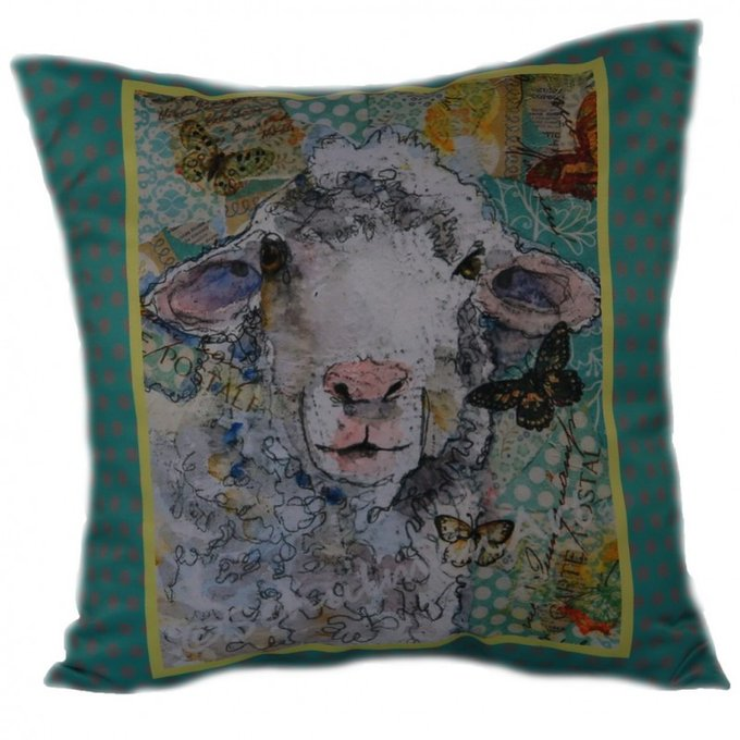 Декоративная подушка Мятная овечка