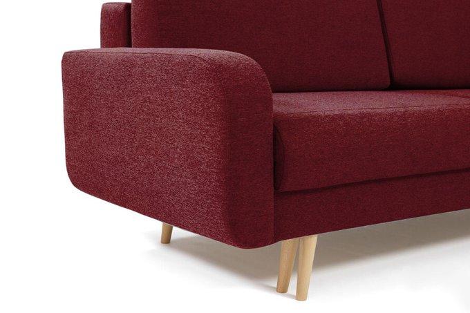 Диван-кровать Микаэле бордового цвета