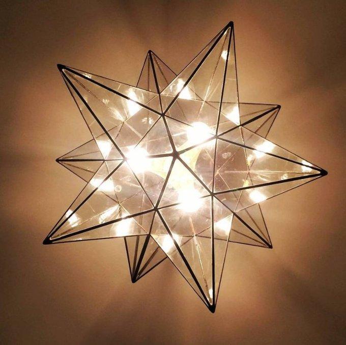 Лампа Звезда с тремя ретро-лампочками