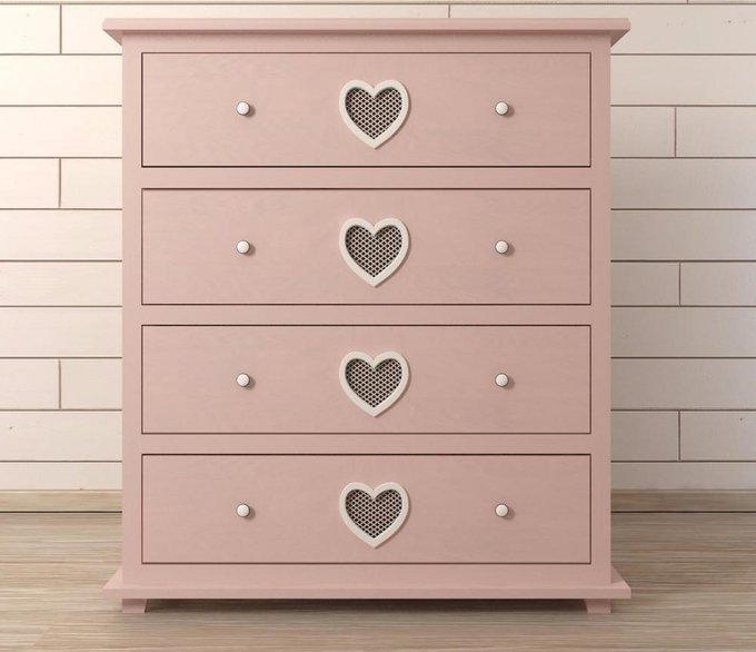 """Комод """"Adelina"""" 4 ящика розовый"""