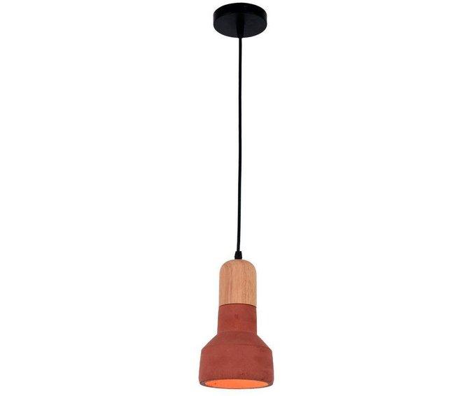 Подвесной светильник Спарк красного цвета