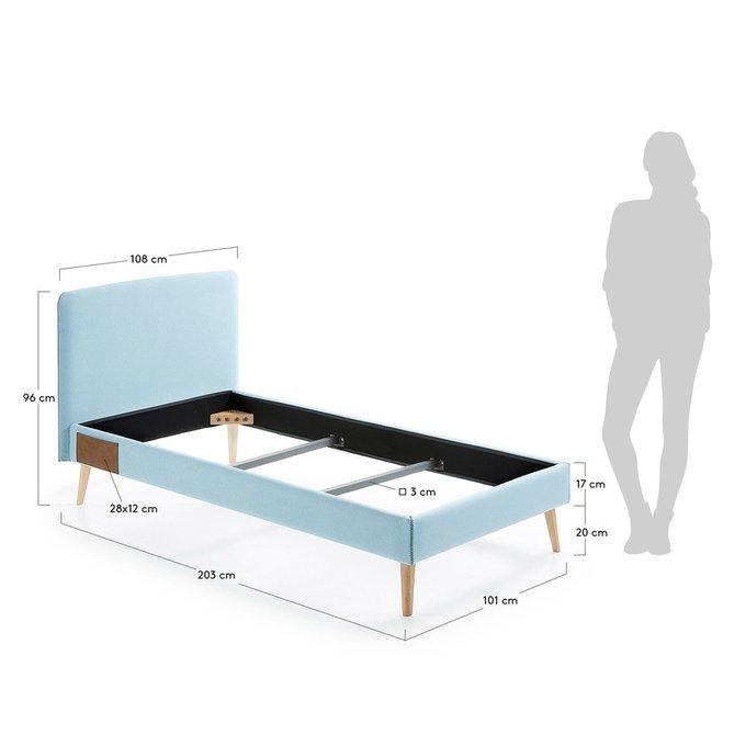 Кровать Lydia голубого цвета 90х190