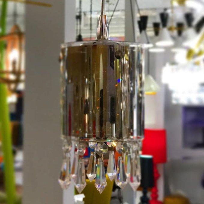 Подвесной светильник DeLight Collection Crystal Tube с прозрачными стеклянными пафонами