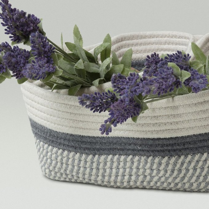 Комплект из трех корзин Karin серо-белого цвета