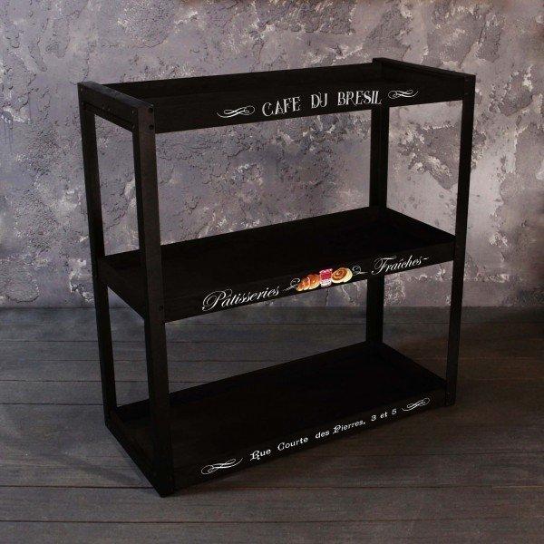 Этажерка Café черного цвета
