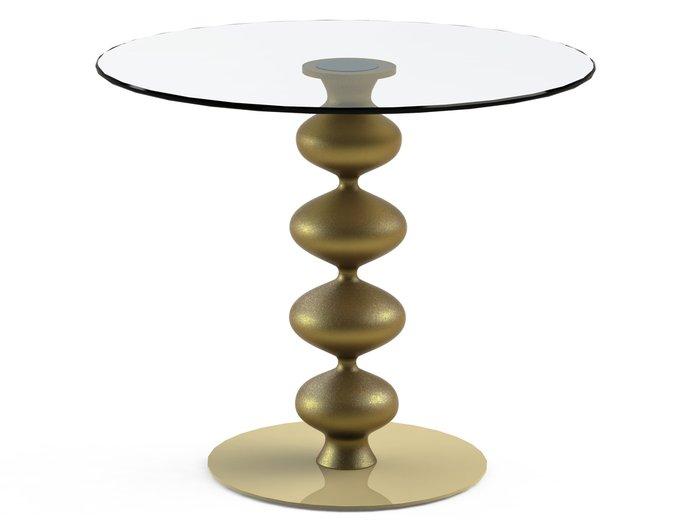 """Обеденный стол """"CRIADOR Gold"""" с круглой столешницей из закаленного стекла"""