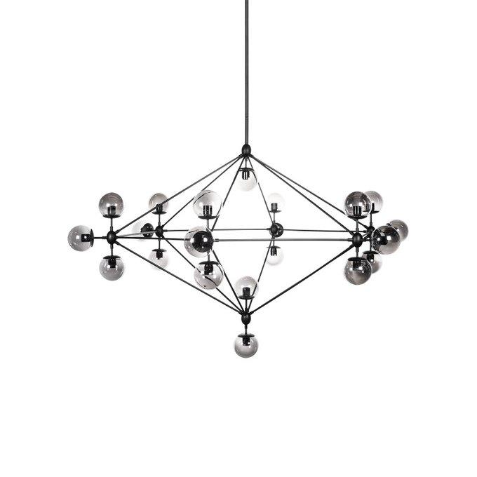 Люстра Molekula Frame с круглыми плафонами