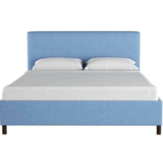 Кровать Novac Platform Blue голубого цвета 180х200