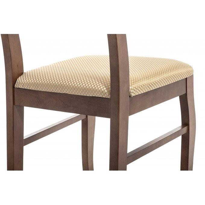 Обеденный стул Амадиу из массива цвета орех