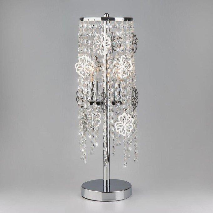 Настольная лампа Flower Strotskis с хрустальными подвесками