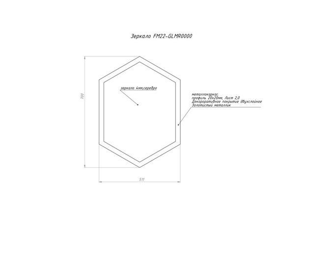 Зеркало в форме неправильного шестиугольника