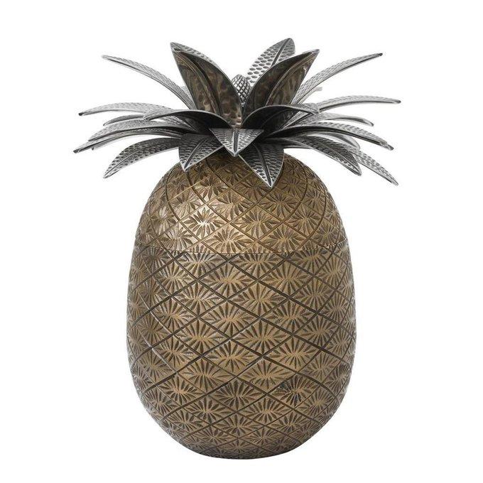 Коробка Pineapple цвета состаренной латуни