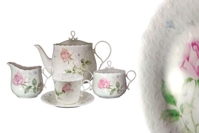 """Чайный сервиз  """"Апрельская роза"""""""