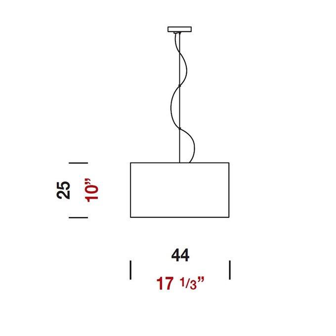 Подвесной светильник Panzeri DEBUT с плафоном из фактурной искусственной кожи