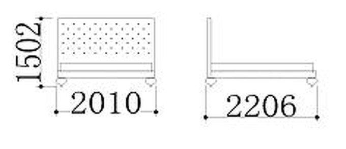 "Кровать с решеткой FRATELLI BARRI ""PALERMO"" 180х200"