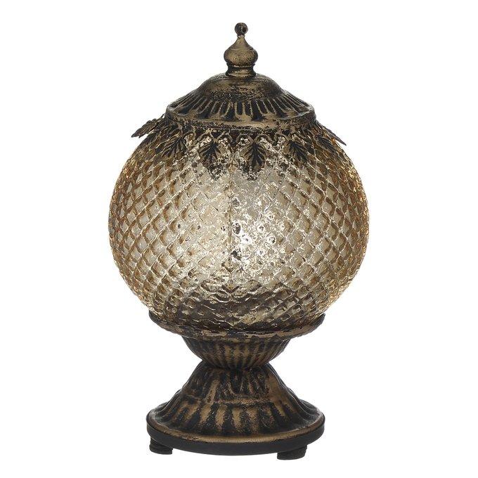 Светодиодный фонарь Led из металла цвета латунь