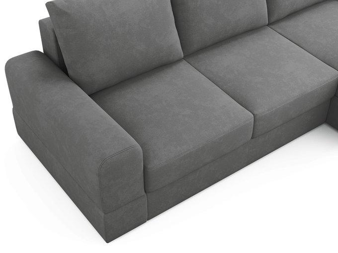 Угловой диван-кровать Elke серого цвета