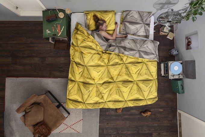 """Комплект постельного белья """"Оригами"""" 150х200 желтый"""