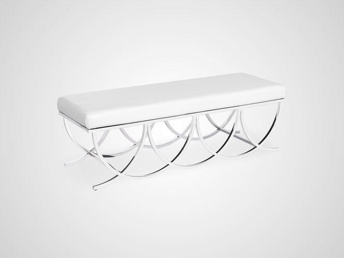 Банкетка Адель в стиле арт-деко с металлическим основанием