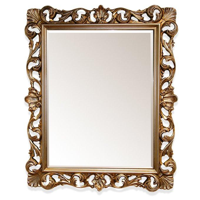 Настенное зеркало в раме бронзового цвета