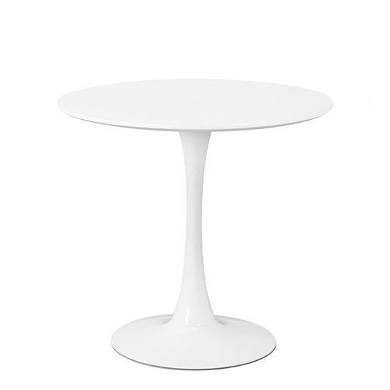 Стол Tulip с круглой столешницей белого цвета 80х73