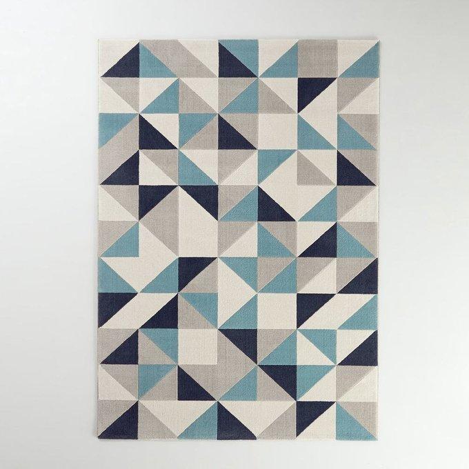 Ковер Elga с геометрическим рисунком cине-серого цвета 200x290