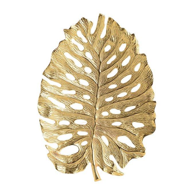 Декор настольный-блюдо золотого цвета