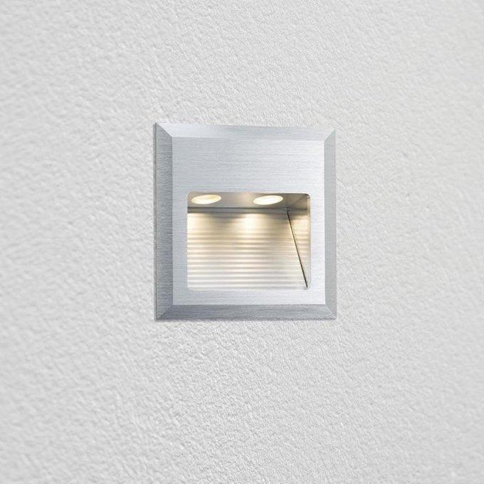 Встраиваемый светодиодный cветильник Wall Led Quadro серого цвета