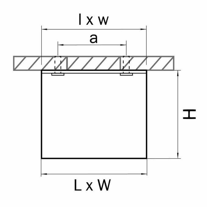 Потолочный светодиодный светильник Monocco