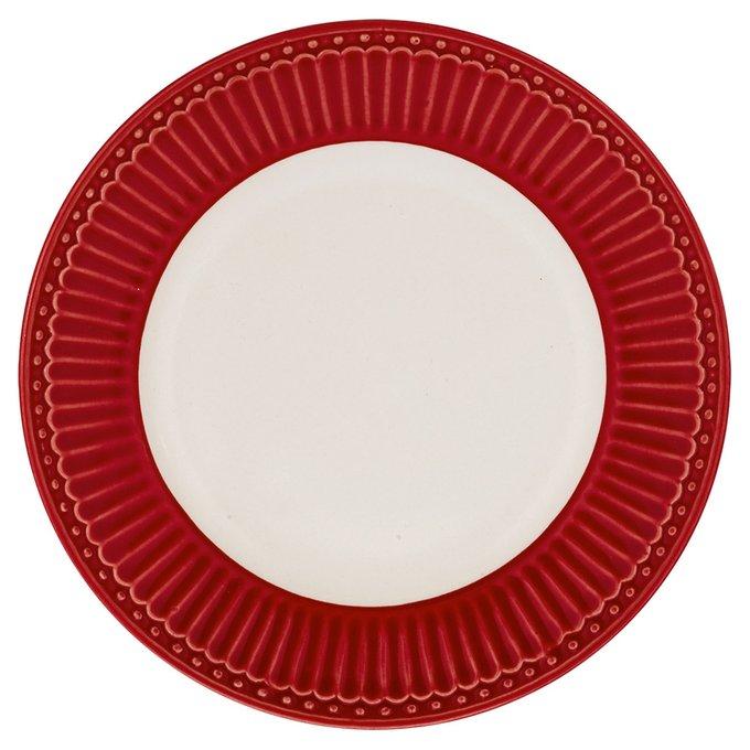 Десертная тарелка Alice red из фарфора