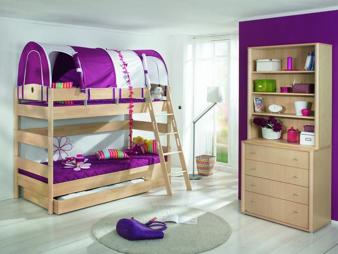 """Двухъярусная кровать PAIDI """"Fleximo"""" с наклонной лестницей 90х200 см"""