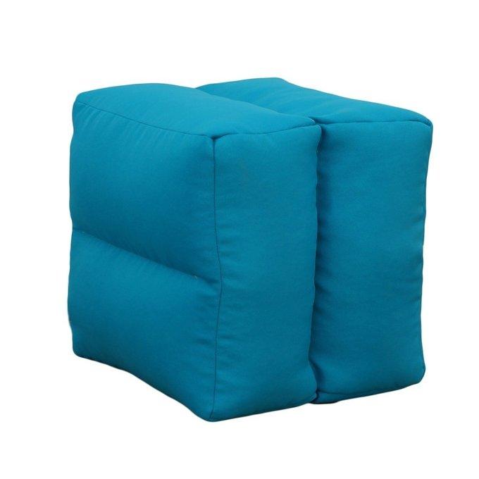 Пуф-аэрокуб голубого цвета