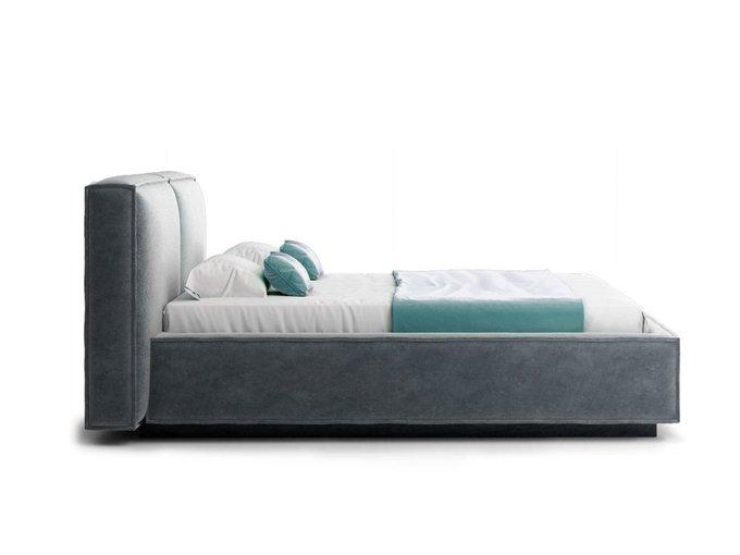 Кровать Verde серого цвета с ортопедическим основанием 140х200