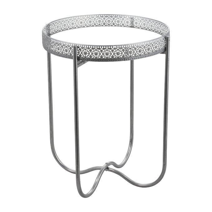 Кофейный столик Adila серебристого цвета