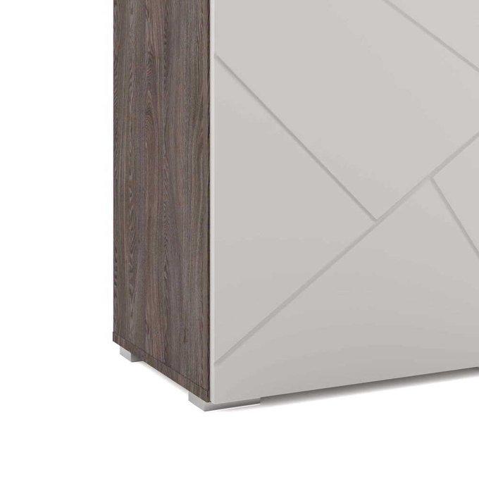 Шкаф распашной правый Селеста с белым фасадом