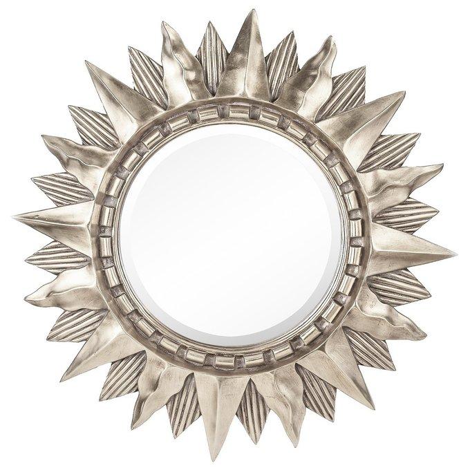 Настенное Зеркало-солнце Sol Silver