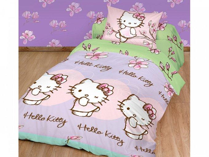 Постельное белье Kitty фиолетово-розового цвета 148х215