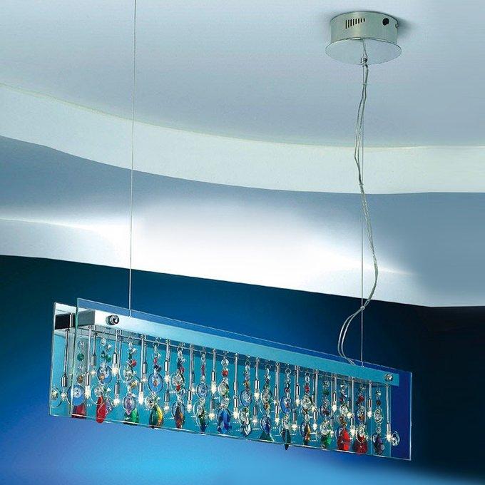 Подвесной светильник Illuminati Domino с плафоном из прозрачного стекла