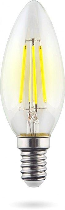 Лампа светодиодная Candle свеча прозрачная