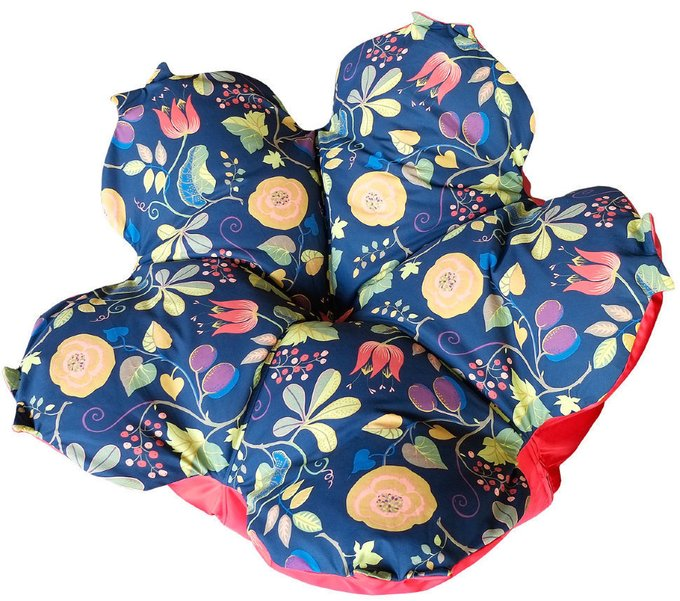 Кресло-мешок Цветок L Капри ночью