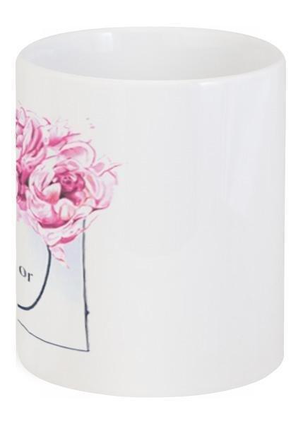 Кружка керамическая Dior Peonies с рисунком