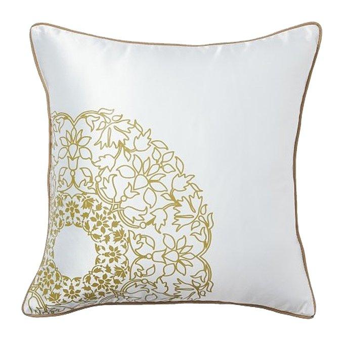 Подушка с принтом Flower Weaving White